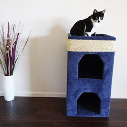 New Cat Condos - New Cat Condos Double Cat Tower - 110064 - BEIGE - Shop for Towers and Houses and Accessories from Hayneedle.com! With two kitty tunnels and a top perch the New Cat Condos Double Cat Tower creates a versatile space where your cat can sleep hide and play. The high-grade plush carpet lends a warm and inviting feel and it offers durability for scratching and clawing. Choose from available color options to best suit your space.