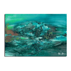 Ready2HangArt - Ready2HangArt Alexis Bueno 'Smash XI' Oversized Canvas Wall Art - This abstract canvas art is the perfect addition to any contemporary space. It is fully finished, arriving ready to hang on the wall of your choice.