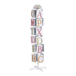 "Teamson Kids - Set Of 26 Hand Painted Letters On Rack - Personalize your child's room by hanging her name on the wall! This lovely set of 26 letters is made by the Teamson Kids Company with exceptional quality and flair, which is made to last. Designed with flowers and leaves, these letters are perfectly  hand carved and finely hand painted giving your room that exquisite look. Dimensions: 8 x 8 x 11""."