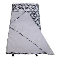 Wildkin Camo Gray Easy Clean Nap Mat - The Wildkin Camo Gray Easy Clean Nap Mat is a water-resistant mat with a gray camouflage design. The attached fleece blanket and removable pillow make this mat as comfortable as it is cool.About WildkinUnpacking the world of children's luggage, Wildkin offers a wide collection of outrageously fun and fantastically practical bags, backpacks, mats, sleeping bags, and more. Each Wildkin piece is available in over 30 unique patterns so parents can be sure to match individual tastes with personalized designs. As safe as they are dynamic, all Wildkin products are crafted with durable, kid-safe materials and tested to ensure the highest quality.