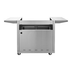 Blaze - Blaze 4 Burner Basic Cart Only - This Blaze stainless steel grill cart is specifically designed to house the Blaze 32-Inch 4 burner gas grill. The two stainless steel side shelves keep your BBQ tools at hand and provide a convenient work area while you cook. The Blaze grill cart also features two front doors with rounded handles to access the cabinet below the grill where you can store your propane tank, grill cover and BBQ accessories.