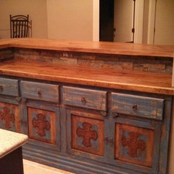 texas pecan raised bar with curved end lovely texas