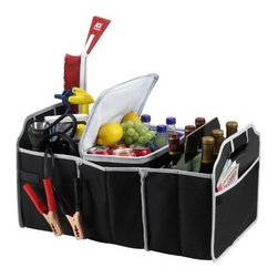 Picnic at Ascot - Trunk Organizer & Cooler Set, Black by Picnic at Ascot - Our Trunk Organizer & Cooler Set in Black by Picnic at Ascot has durable 3 section trunk organizer with removable Thermal Shield insulated cooler. Great for keeping sports gear, cleaning supplies and groceries organized the Organizer is foldable when not in use to maintain trunk space.