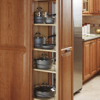 Schrock Tall Pantry Pullout - Keep heavy pots and pans within easy reach with a Tall Pantry Pullout.