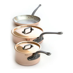 Mauviel - Mauviel M'250c Copper & Stainless Steel Cookware Set, 5 pieces, Cast Iron Handle - Five piece cookware set including
