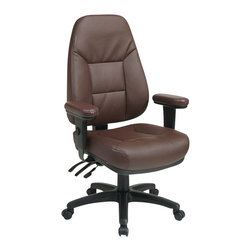 Office Star - Office Star Professional Ergonomic Burgundy Eco Leather Chair - Office Star - Office Chairs - EC4300EC4