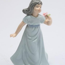 CG - 3.125 Inch Ceramic Miniature Figurine of Breezy Spring Time Girl - This gorgeous 3.125 Inch Ceramic Miniature Figurine of Breezy Spring Time Girl has the finest details and highest quality you will find anywhere! 3.125 Inch Ceramic Miniature Figurine of Breezy Spring Time Girl is truly remarkable.