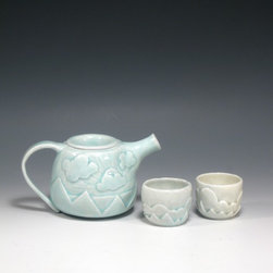Hand Chiseled Porcelain ware - handmade porcelain teapot. Made to order.