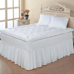 None - Baffle Box 230 Thread Count Fiberbed - Enhance your sleeping experience with this cotton fiber bed. Featuring a baffle-box design,this bed provides full-body support as you rest and has a 230-thread-count cotton shell that is comfortable and helps to relieve pressure points.