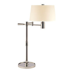 Hudson Valley Lighting - Hudson Valley Lighting L524 Lindale 1 Light Table Lamp - Hudson Valley Lighting L524 Lindale 1 Light Table LampAdjustable functionality is combined with a spartan style on these swing arm lamps from the Lindale Collection.Hudson Valley Lighting L524 Features: