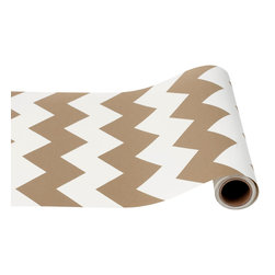 Hester & Cook Design Group - Chevron Table Runner - Dress up your table for easy entertaining, or use as gift wrap. These versatile paper table runners can be cut to fit the length of any table top. Printed with metallic soy-based inks on our signature recycled paper.