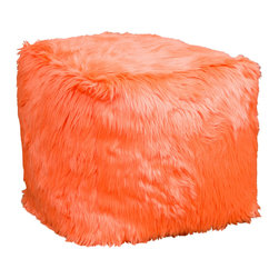 Great Deal Furniture - Trevor Microfiber Kids Bean Bag, Hot Orange - The Trevor bean bag provides you or your child a comfortable seat in any room. The puncture-proof microfiber cover is filled with polystyrene beans, making it durable for long time use. Perfect for the bedroom, home theater rooms, family and game rooms.
