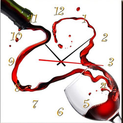 The Dance of Wine Clock in Canvas - MPF(HZ0020) - Type: Wall Clock