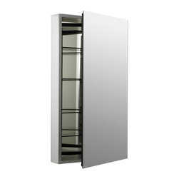 KOHLER - KOHLER K-2936-PG-SAA Catalan Mirrored Cabinet with 107 Degree Hinge - KOHLER K-2936-PG-SAA Catalan Mirrored Cabinet with 107 Degree Hinge in Satin Anodized Aluminum