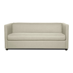 "RED LIVING - Moretti Light Grey Sofa Sleeper - The Moretti is a pracitcal yet stylish sofa bed, ideal for a small guest room or a student's apartment. At 67.3"" wide, the Moretti can easily accomodate 2 people."