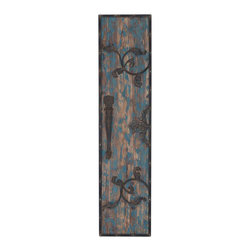 "Benzara - Simple Wood Metal Wall Plaque with Elegant Design - Simple Wood Metal Wall Plaque with Elegant Design. A perfect choice of decor furnishing, this elegant wall plaque has a versatile appeal and complements both modern-casual and transitional decor setups. It comes with following dimensions 14"" W x 2"" D x 59"" H."