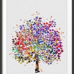 KidsPlayHome - Kids Room Magic Tree Wall Art - Playroom Art Print