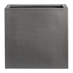 Grey Fiberstone Large Planter
