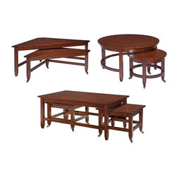 Broyhill - Counterparts Occasional Table Set - 3864-ROOM - Set Includes Bunching Triangular Cocktail and End Table