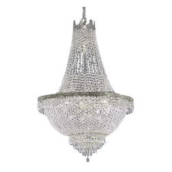 "The Gallery - French Empire Crystal Chandelier Chandeliers Lighting H30"" X W24"" - 100% CRYSTAL CHANDELIER, this chandelier is characteristic of the grand chandeliers which decorated the finest Chateaux and Palaces across Europe and reflects a time of class and elegance which is sure to lend a special atmosphere in every home. SIZE WD 24X HT 30 9 LIGHTS *FREE SHIPPING!Assembly Required."