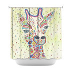 DiaNoche Designs - Shower Curtain Artistic - The View From Up Here - DiaNoche Designs works with artists from around the world to bring unique, artistic products to decorate all aspects of your home.  Our designer Shower Curtains will be the talk of every guest to visit your bathroom!  Our Shower Curtains have Sewn reinforced holes for curtain rings, Shower Curtain Rings Not Included.  Dye Sublimation printing adheres the ink to the material for long life and durability. Machine Wash upon arrival for maximum softness. Made in USA.  Shower Curtain Rings Not Included.