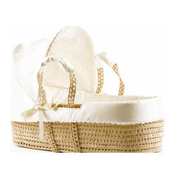 Bouton Jaune - Moses Basket, Ivory - Very convenient for parents and fun for baby. It is an accessory that allows you to keep an eye on baby anywhere in the house. Perfect for baby to easily sleep with relatives or friends during an outing in a cozy environment to which it is already accustomed.