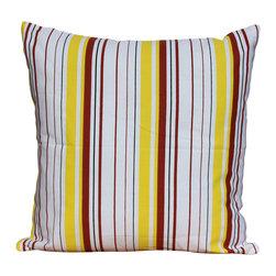 Auburn Design Studio - Cotton Stripes Pillows - Cotton printed pillows.