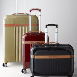 Hartmann - Hartmann Garment Bag Spinner - Ribbed hardside luggage with belting leather trim gets you to your destination in style. Made of four-layer polycarbonate for exceptional impact resistance. Select color when ordering. 360-degree swivel wheels, divided packing compartments, TSA lock...