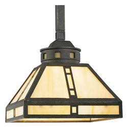 Progress Lighting - Progress Lighting P5020-46 Arts & Crafts Single-Light Mini Pendant with Light - Features:
