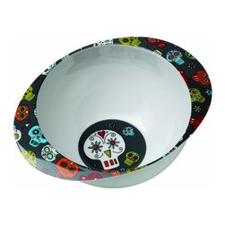 SugarBooger Kids' Deep Dish Bowl, Dia de los Muertos Collection - Don't forget about the little ones during your Day of the Dead shopping. This cute baby food bowl features a really fun take on sugar skulls.