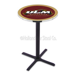 Holland Bar Stool - Holland Bar Stool L211 - Black Wrinkle Louisiana-Monroe Pub Table - L211 - Black Wrinkle Louisiana-Monroe Pub Table belongs to College Collection by Holland Bar Stool Made for the ultimate sports fan, impress your buddies with this knockout from Holland Bar Stool. This L211 Louisiana-Monroe table with cross base provides a commercial quality piece to for your Man Cave. You can't find a higher quality logo table on the market. The plating grade steel used to build the frame ensures it will withstand the abuse of the rowdiest of friends for years to come. The structure is powder-coated black wrinkle to ensure a rich, sleek, long lasting finish. If you're finishing your bar or game room, do it right with a table from Holland Bar Stool. Pub Table (1)