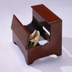 Bernards - Queen Anne Side Step With Storage - Flip up storage drawer.