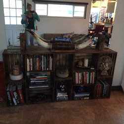 All Wood Crate Book Shelf/Entry Table - All 100% Wood. Hand Made.
