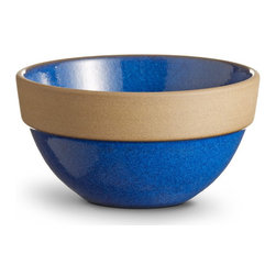 Dessert Bowl Heath Rim Line - This cobalt bowl's design gives a little contemporary pop to a country classic.