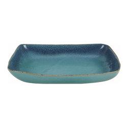 Glidden Green Tray - Glidden Pottery midcentury modern green tray.