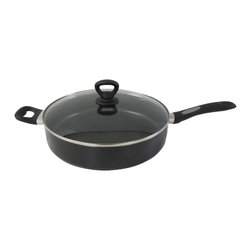 Mirro - Mirro Get-A-Grip Nonstick 12-inch Covered Saute Pan - This 12-inch saute pan from Mirro is constructed of aluminum and stainless steel. This saute pan features a nonstick interior to prevent food from sticking.