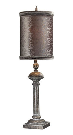 Joshua Marshal - One Light Restoration Grey Table Lamp - One Light Restoration Grey Table Lamp