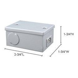 Jesco Lighting - Sleek Plus 2-wire Metal Hardwire Box - Commercial grade metal hardwire box for use with Jesco's Sleek Plus 2-wire  fixtures