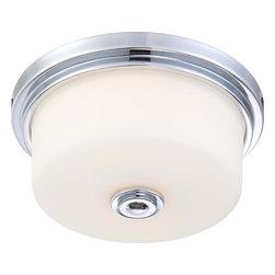 Nuvo Lighting - Nuvo Lighting 60-4591 Soho 2-Light Medium Flush Fixture - Nuvo Lighting 60-4591 Soho 2-Light Medium Flush Fixture with Satin White Glass