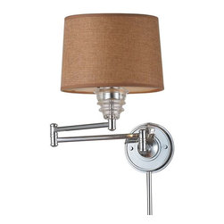 Elk Lighting - Elk Lighting 66804-1 Insulator Glass Traditional Swingarm Wall Sconce - Elk Lighting 66804-1 Insulator Glass Traditional Swingarm Wall Sconce in Polished Chrome