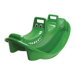 "The Original Toy Company - The Original Toy Company Kids Children Play Crocodile Rocker - This rocking Crocodile will provide hours of play an even accomodate 3. No assembly required, can be used indoors or outside.The rocker is designed for safety and Fun. Smooth rounded corners with 2 easy grip handles. indoor/outdoor. includes self mounting stickers. Size: 42""Lx 15""Wx 16""H. Ages 3 years plus. Weight: 2 lbs. Made In The USA."