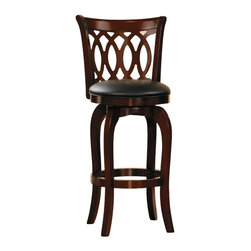 Homelegance - Homelegance Shapel Swivel Pub Chair in Cherry (Set of 2) - Homelegance - Bar Stools - 113329S -The transitional Shapel Collection adds the simple touch of style to your home's smaller dining or bar space that you've been looking for.