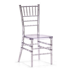 ZUO MODERN - Diamond Dining Chair Transparent - A modern take on a classical shape and structure, the Diamond dining chair unites every classical dining room into the modern age. Made of clear polycarbonate.
