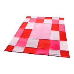 """Blancho Bedding - Onitiva - [Cerelia] Soft Coral Fleece Patchwork Throw Blanket (59""""-78.7"""") - This Coral Fleece Patchwork Throw Blanket measures 59 by 78.7 inches. Comfort, warmth and stylish designs. Whether you are adding the final touch to your bedroom or rec-room these patterns will add a little whimsy to your decor. This Coral Fleece Patchwork throw blanket will make a fun additional to any room and are beautiful draped over a sofa, chair, bottom of your bed and handy to grab and snuggle up in when there is a chill in the air. They are the perfect gift for any occasion! Keep one in your car for staying warm at  outdoor sporting events. Place one on your couch or favorite upholstered chair. Have extras on hand for sleepovers and overnight guests. Machine wash and tumble dry for easy care. Will look and feel as good as new  after multiple washings!"""