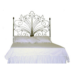 Corsican - Custom Fairy Headboard, King - Corsican has been in business over 40 years. Their entire focus is making wrought iron furniture. Many of their skilled craftsman are second generation.