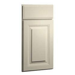 CliqStudios.com - Carlton Off-White Linen Bisque Glaze Shaker Kitchen Cabinet Sample - The ...