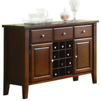 Baxton Studio Modesto Brown Modern Dry Bar and Wine Cabinet ...