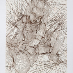 Guillaume Azoulay, Siblings, Etching - Artist:  Guillaume Azoulay, Moroccan (1949 - )