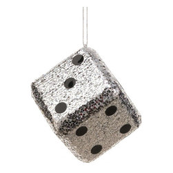Silk Plants Direct - Silk Plants Direct Glitter Dice Ornament (Pack of 24) - Silver - Pack of 24. Silk Plants Direct specializes in manufacturing, design and supply of the most life-like, premium quality artificial plants, trees, flowers, arrangements, topiaries and containers for home, office and commercial use. Our Glitter Dice Ornament includes the following: