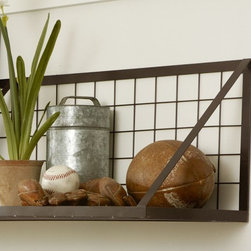 Kellan Wall-Mount Shelf - This shelf is simple, sturdy and deep enough to hold larger bowls.